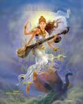 Sarswathi descending from heaven