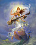 Sarswathi descending from heaven by thandav