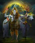 Maha Shiva ... my Art salutation to cosmic heart
