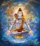 Meditating Shiva by thandav