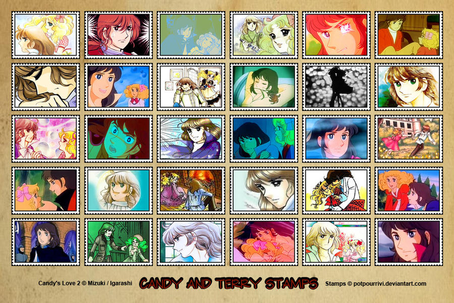 Candy and Terry Stamps by potpourriVI