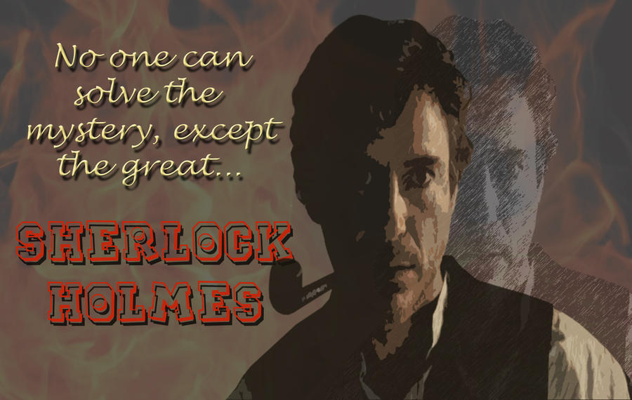 Sherlock Holmes Quotes Wallpaper Sherlock holmes - wallpaper by