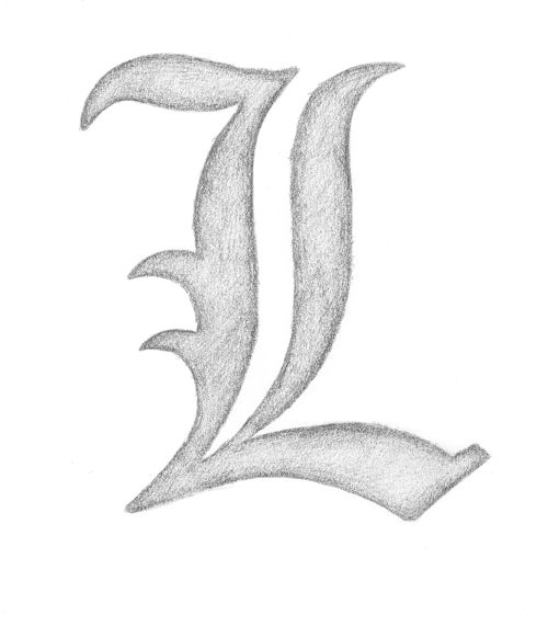 L Symbol Death Note By Chiarylovehouse95 On Deviantart