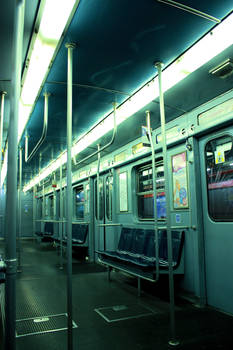 Alone in a subway..