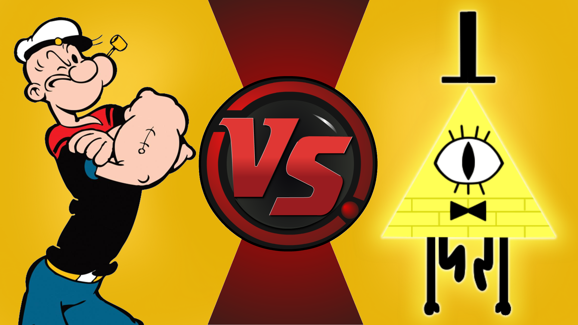 CFC|Popeye vs. Bill Cipher by Vex2001