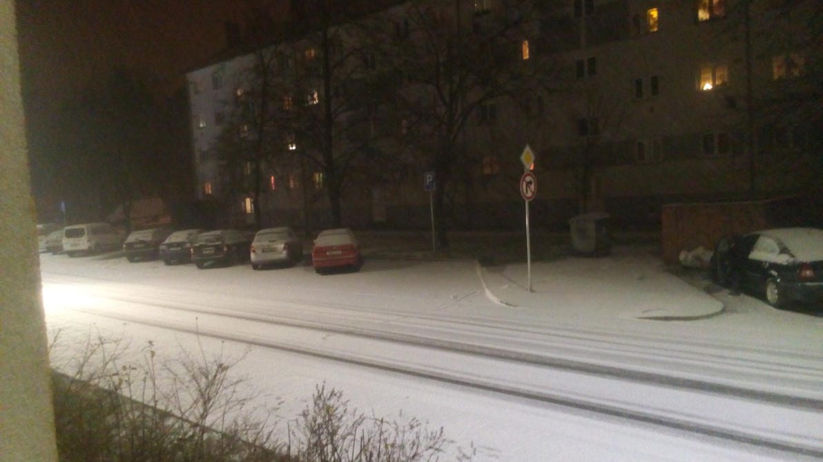 First snow in Czechia 2017 by Vex2001