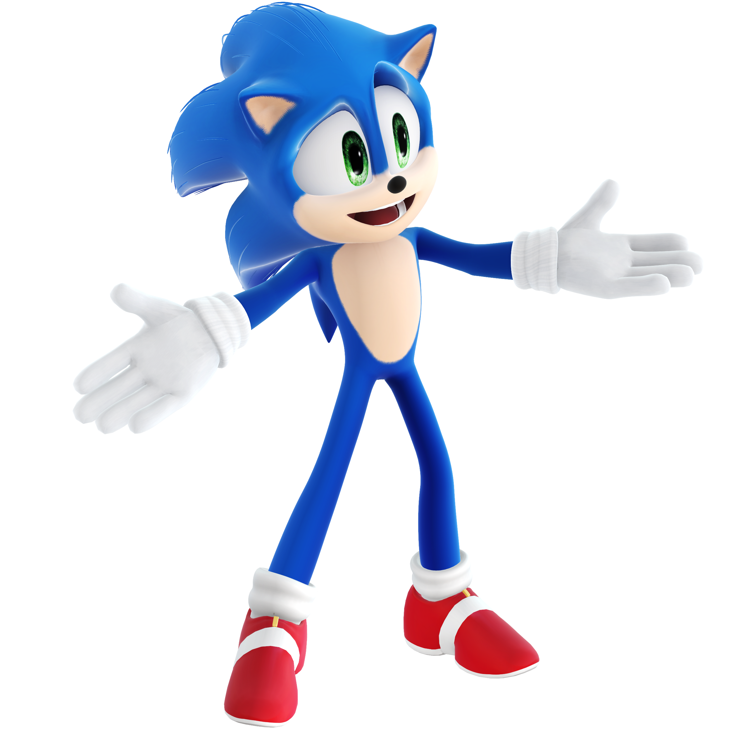 Movie Sonic Render Variant 8 By Vexikku On Deviantart