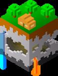 chunk of minecraft
