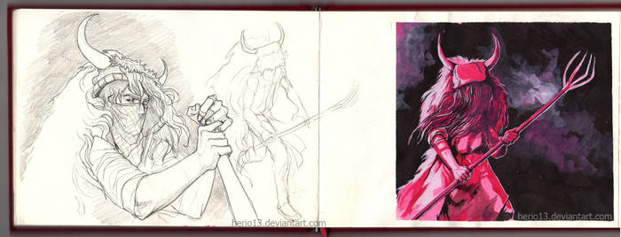 Momotxorro from sketchbook