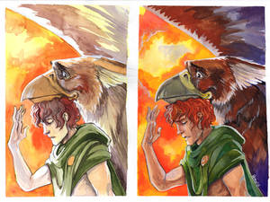 Gryphon and the boy