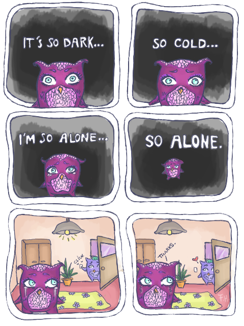 Owl-angst by FFairyy