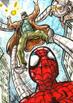 Doc Ock and Spidey Sketch Card