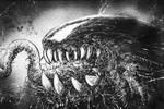 Venom Mixed Media WIP