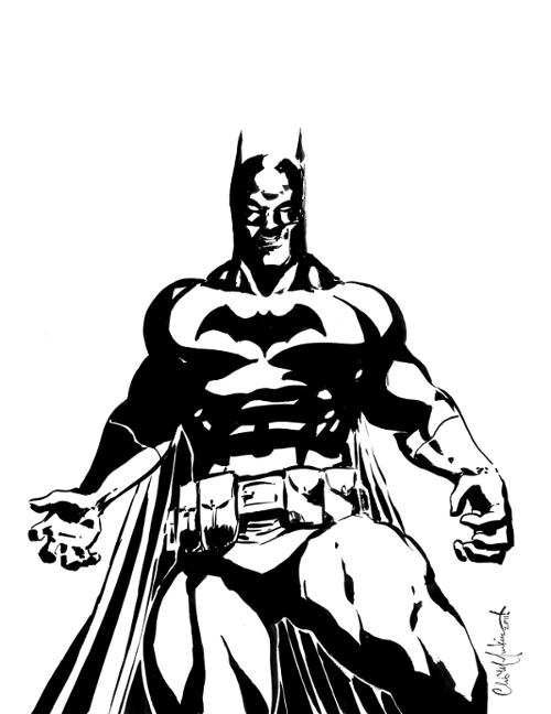 Batman Black And White By ChrisMcJunkin