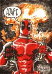 Deadpool Sketch Card Commission