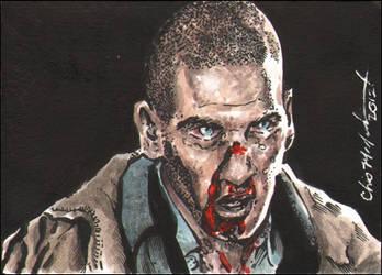 Zombie Shane The Walking Dead ACEO Sketch Card by ChrisMcJunkin