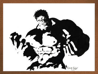 The Hulk Black and White 091212 by ChrisMcJunkin