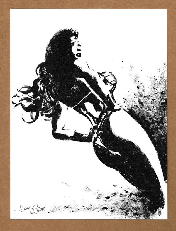 Wonder Woman Black and White 2 by ChrisMcJunkin