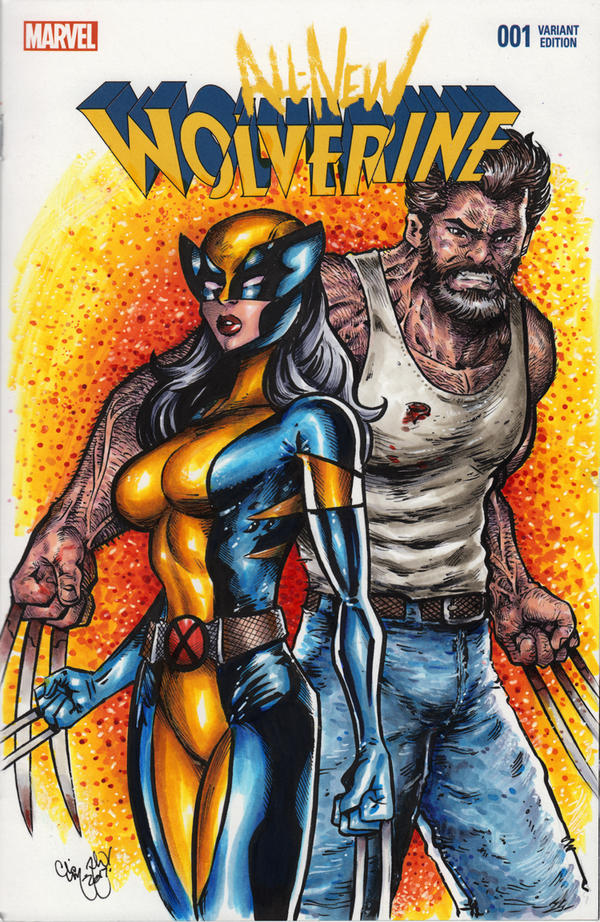 X-23 and Logan Commission by ChrisMcJunkin
