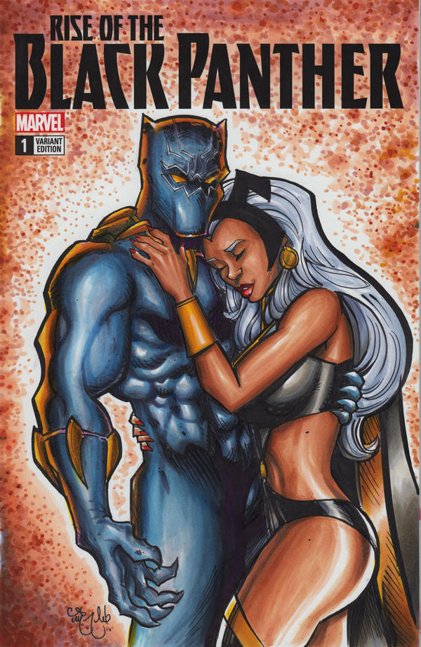Black Panther Storm Sketch Cover by ChrisMcJunkin