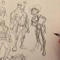 Deadpool Sketching by ChrisMcJunkin
