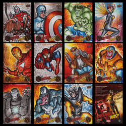 ANT-MAN AND THE WASP UPPER DECK SKETCH CARDS by ChrisMcJunkin