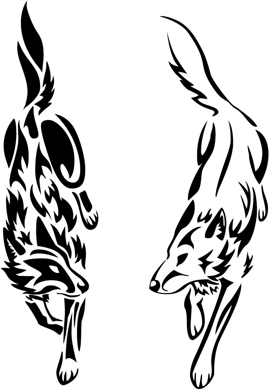 Wolf Mates Tattoo Designs