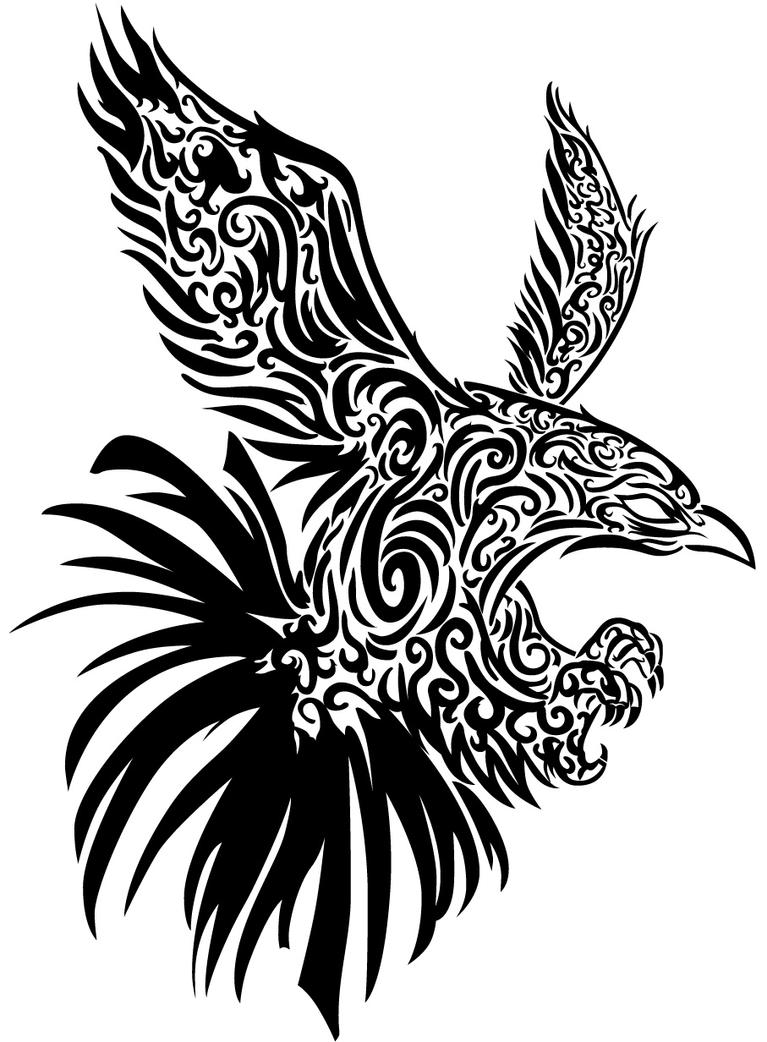 Hawk Wall Tribal vector by
