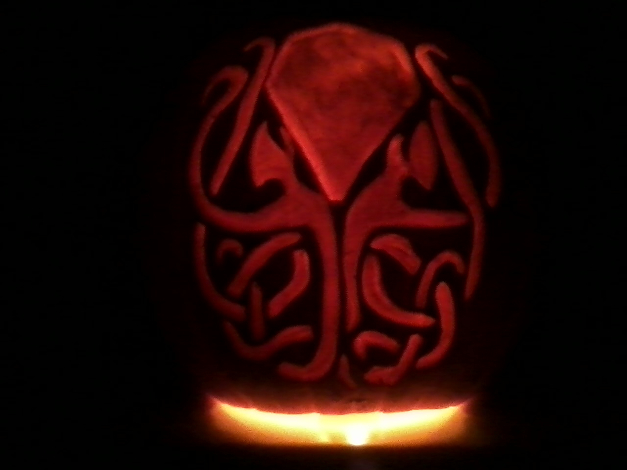 Cthulhu Pumpkin by SithMasterJosh
