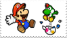 paper mario stamp by Sabattier