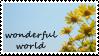 wonderful world stamp entry by Sabattier