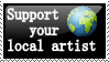 support local- stamp