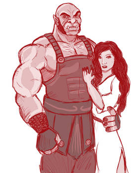 Kassandera and her orc