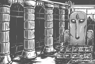 Zelda II Temple by Backflipsimmons