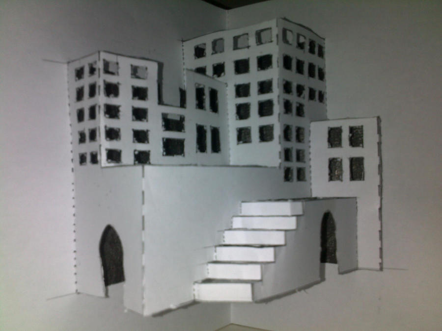 how to make a 3d city with papers