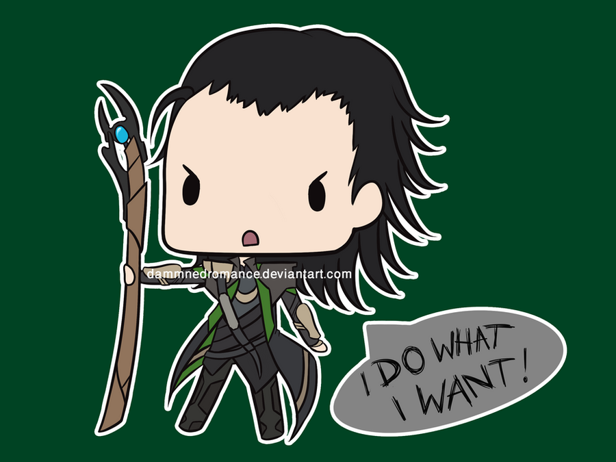 Loki Super Chibi by DamnedRomance