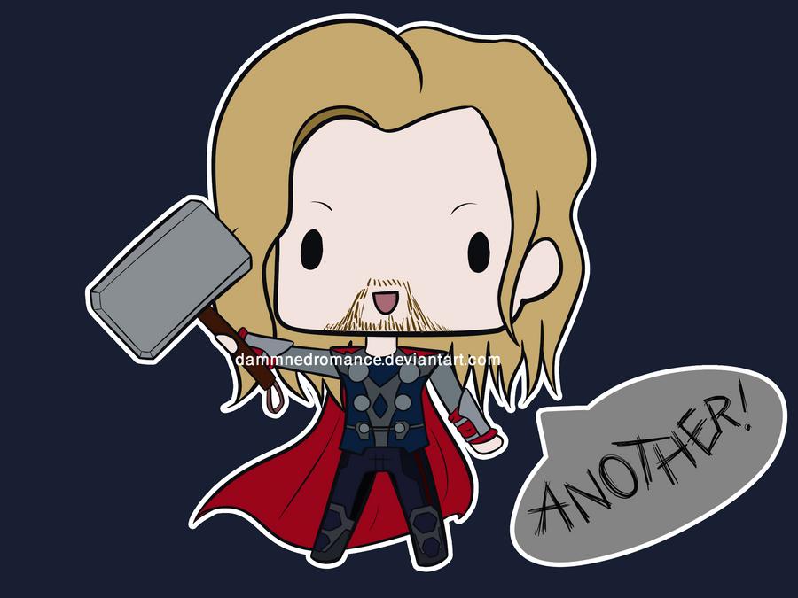 Thor Super Chibi by DamnedRomance