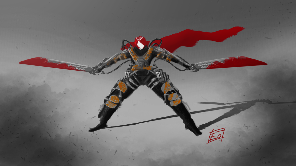 Edge of Tomorrow x Attack on Titan sketch by Darethus