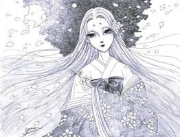 Kaguya Hime - Sakura - concept by aruarian-dancer