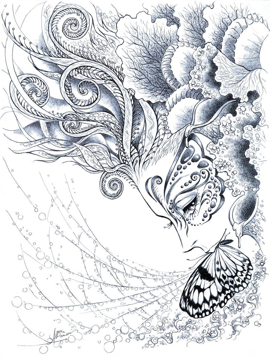 красивые рисунки карандашом демонов