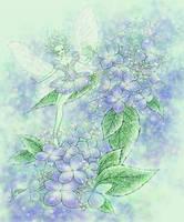 Blue Hydrangea by aruarian-dancer