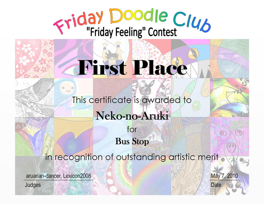 fdc contest award certificate by aruarian dancer on deviantart