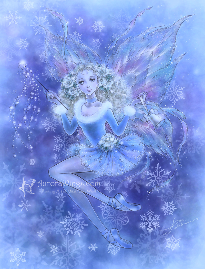 Christmas Fairy in Blue by aruarian-dancer