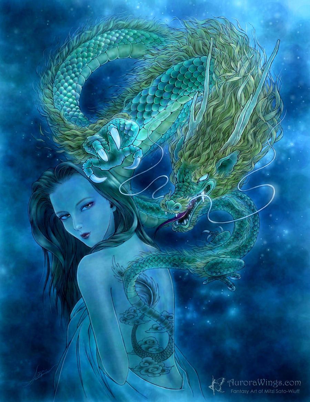 Dragon Lore - Green by aruarian-dancer