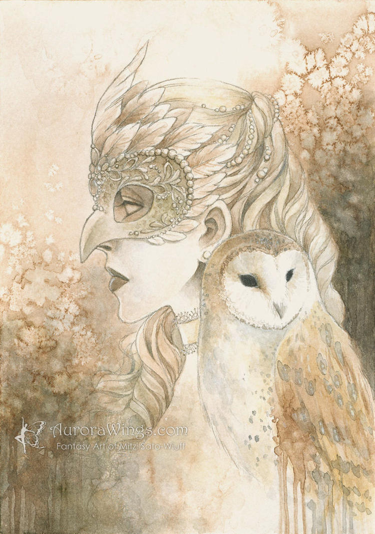 Owl Masquerade by aruarian-dancer