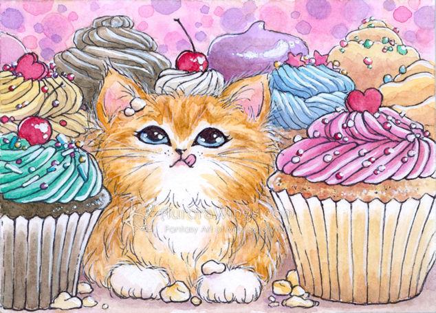 Cupcake Kitten by aruarian-dancer
