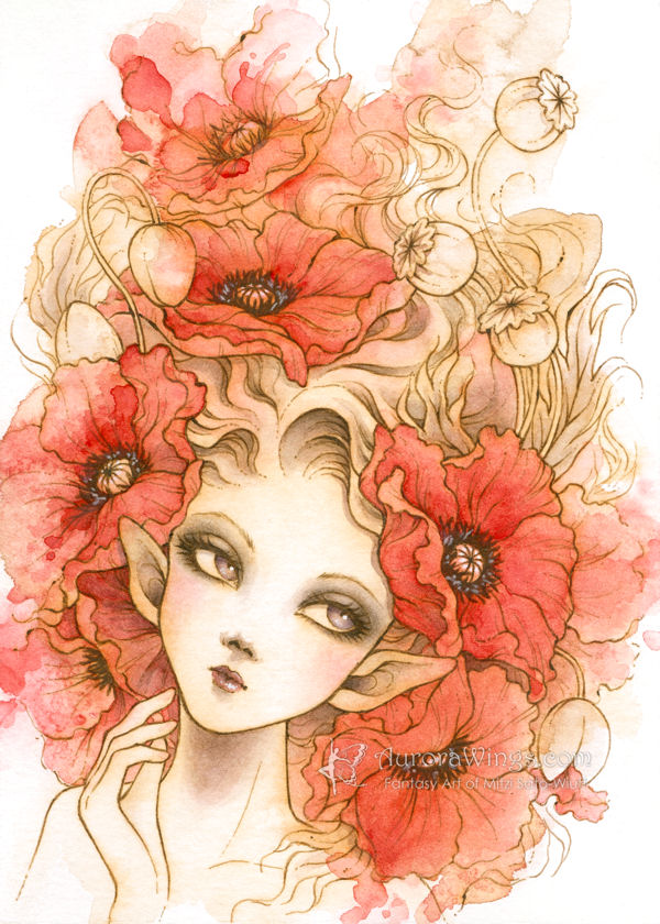 Red Poppies by aruarian-dancer