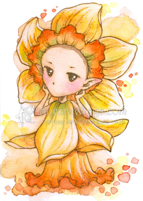 Daffodil Sprite by aruarian-dancer