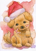 Christmas Puppy by aruarian-dancer