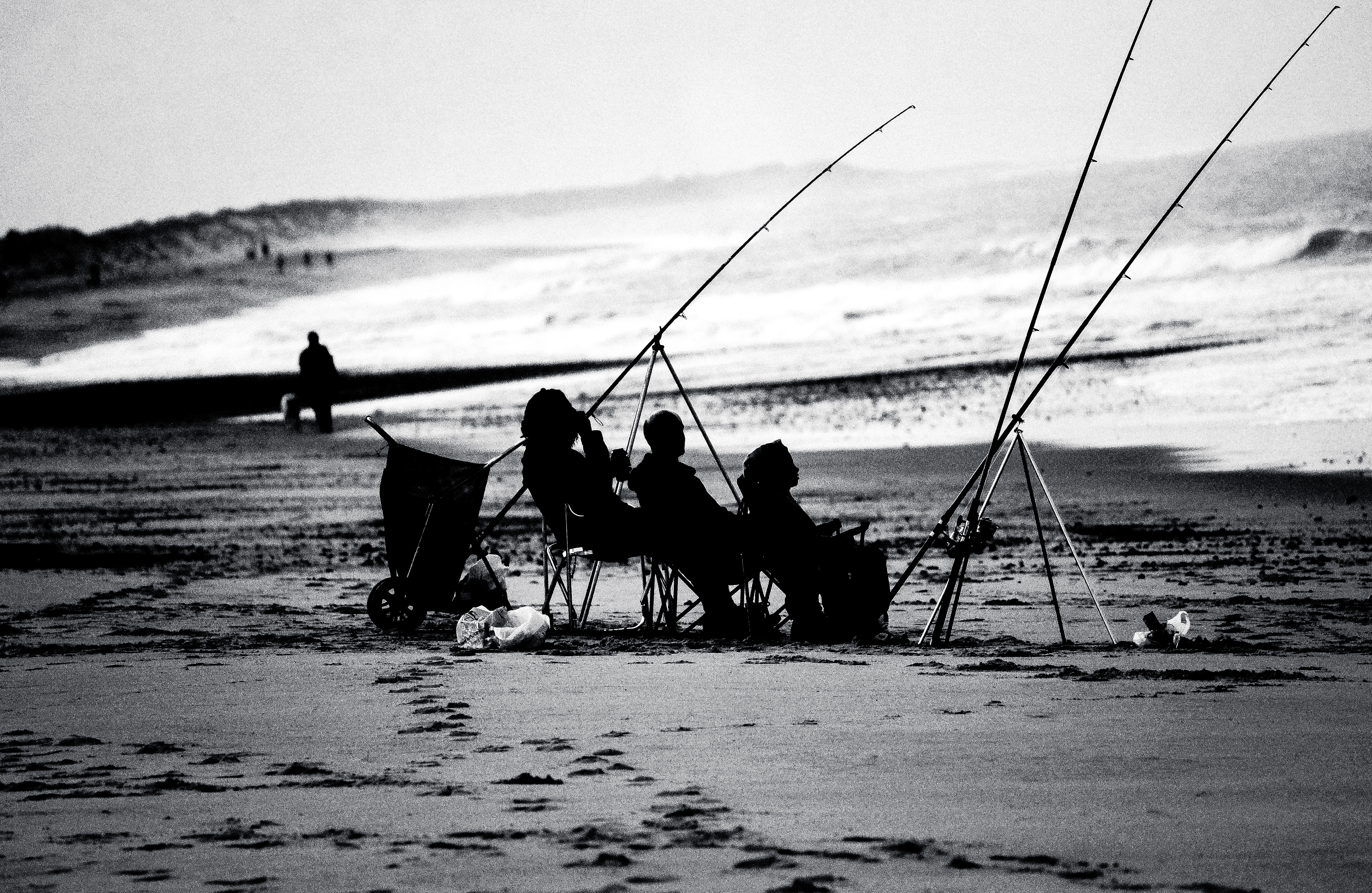 Beach Fishing by Samuel-Benjamin